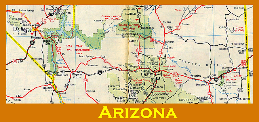 GCNNC Route Williams AZ Traditional Cache In California - Map of arizona and new mexico